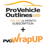 Pro Vehicle Outlines Online 12 Month Subscription + PVO WrapUP